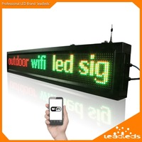P10 Outdoor Waterproof RGY 3 Color LED Display Open Message Sign Board Wifi Programmable Size 104