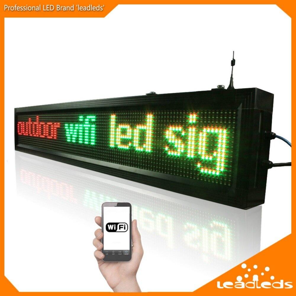40 pouces P10 Extérieure wifi télécommande Led signe Défilement Message publicitaire led panneau d'affichage pour les Entreprises et Magasin