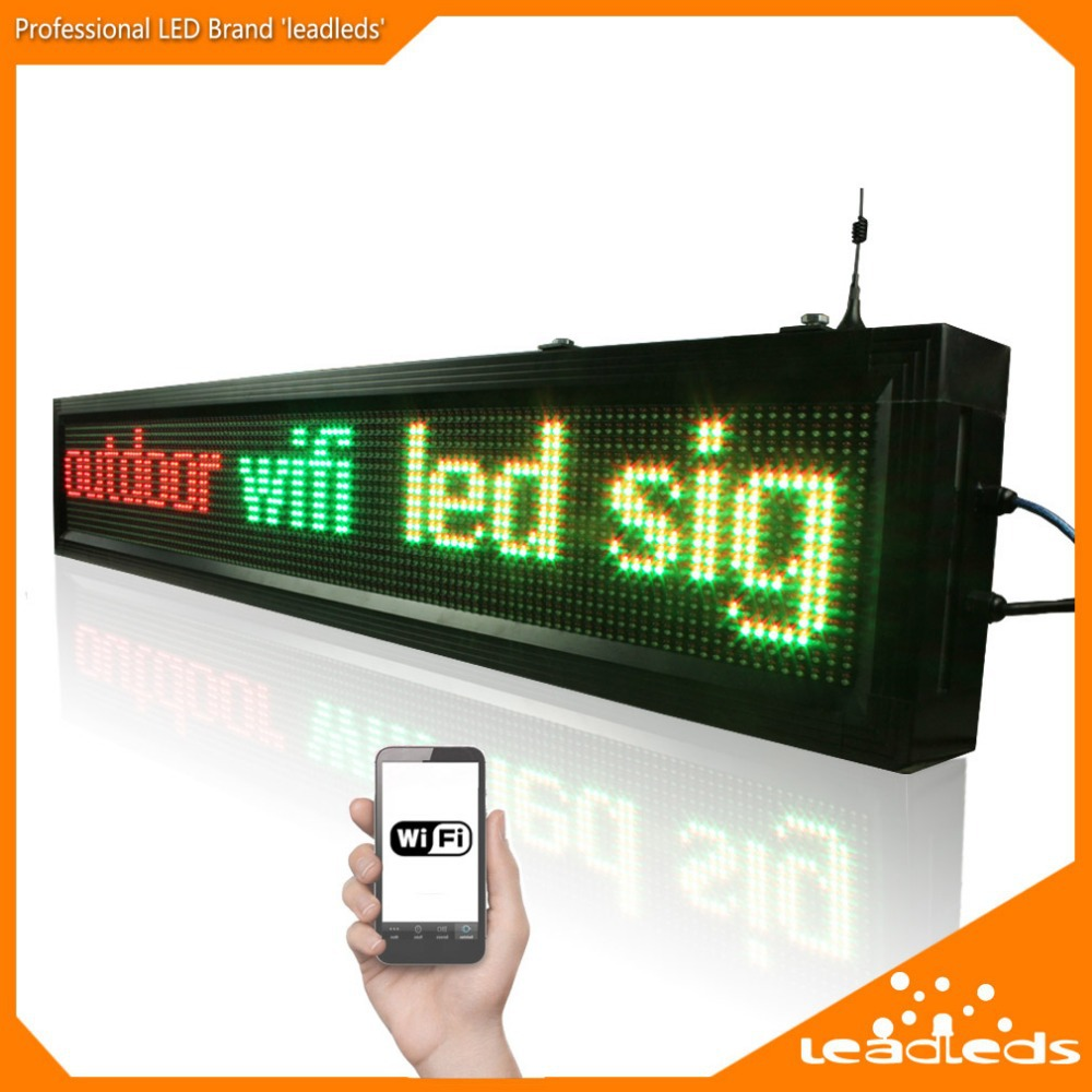 40inch P10 Outdoor wifi remote control Led sign Scrolling advertising Message led display board for Business and Store