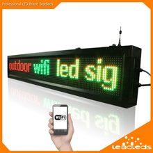 40 inç P10 açık WIFI uzaktan kumanda Led işareti kaydırma reklam mesajı Led ekran kartı iş ve mağaza için