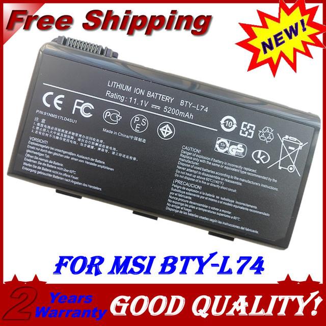 Batería del ordenador portátil para msi cx620 3d jigu cx620mx cx620x cx623 cx630 cx700 cx623x cx700x cx705 cx720 cx705x ge700 bty-l74 bty-l75