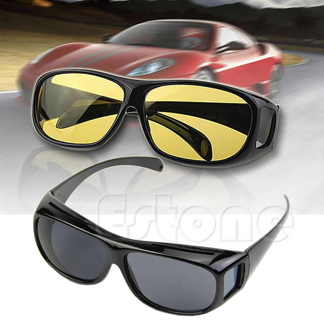 fee5afe8d5d Night Optic HD Night Vision Wrap Around Driving Anti Glare HD Glasses Sun  Optics