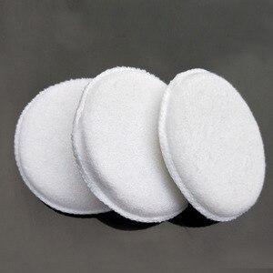 Image 1 - Esponja de pulido de microfibra suave para coche, de fácil lavado, encerado de algodón, almohadilla aplicadora blanca, detalle de coche, 3 uds.