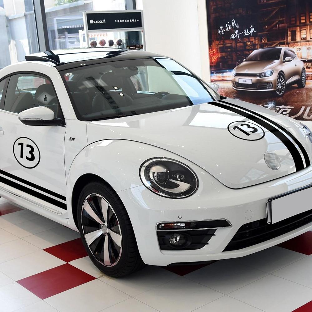 Car Styling Porte Côté Bande Jupe Autocollants Corps Personnalisable Motorsports Graphics Decal Set pour Volkswagen Beetle Accessoires