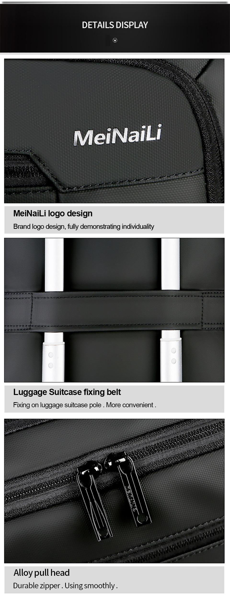 9 Multifunction USB Backpack Man Bag 15.6inch Laptop Backpacks Travel Bags Large Capacity Luggage Backpacking Waterproof Notebook