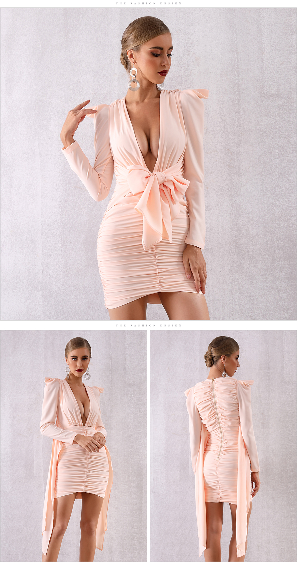 Sleeve Bodycon Vestidos New 7