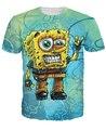 Гранж Боб Футболка 3d персонажа из мультфильма Губка Боб футболка летний стиль тис мода одежда топы футболка с короткими рукавами