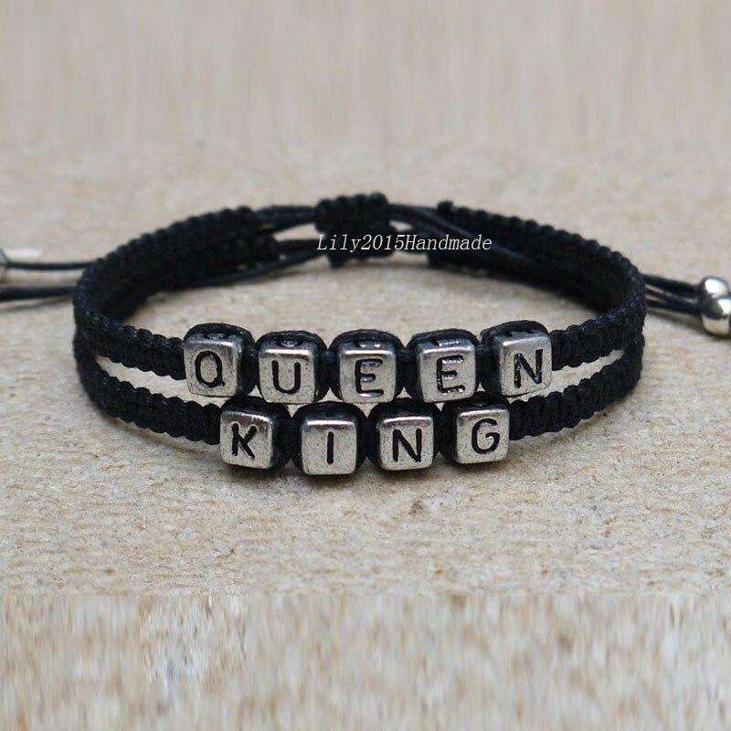 couples bracelets set king and queen bracelet handmade. Black Bedroom Furniture Sets. Home Design Ideas