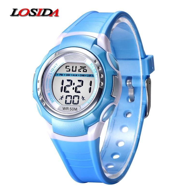 2017 likt barn sport klokker barn digital klokke kvinner sport klokker LED armbåndsur kjole armbåndsur relogio maskulino