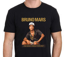 Hot Sales2017 Men's Casual Bruno Mars 24K Magic World Tour2017 3D Print Men's T Shirts High Quality Short Sleeve Tee