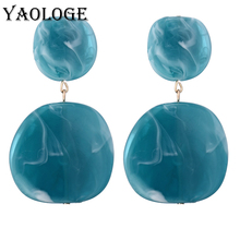 YAOLOGE New Irregular Acrylic Earrings Bohemian Style Fashion Geometric Jewelry Vintage Statement For Women Accessories