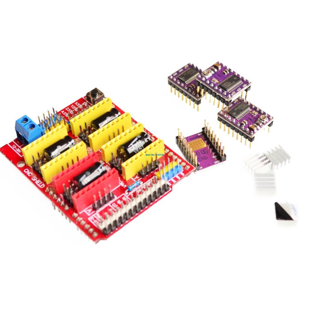 V3.0 Engraver CNC Shield+DRV8825 Stepper Motor Drivers For UNO R3 for Arduino