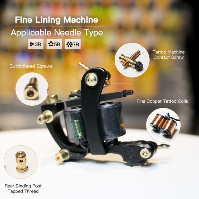 Máquina del tatuaje bobinas de cobre fundición de alta calidad marco ...