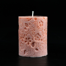 3D Round Cylinder Extra Flower Shaped Silicone Mould For Candle