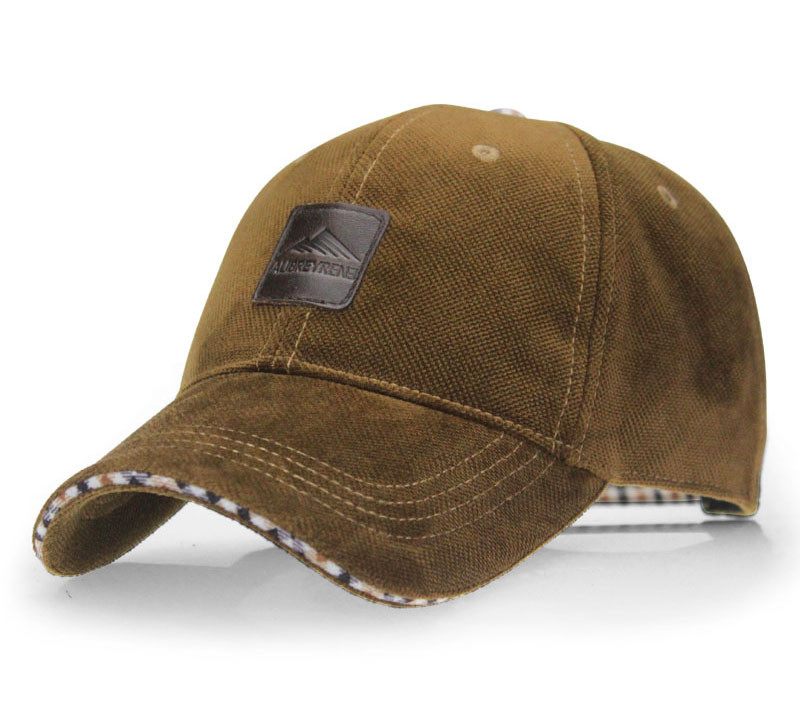 Brushed Cotton Baseball Cap - Front Angle View