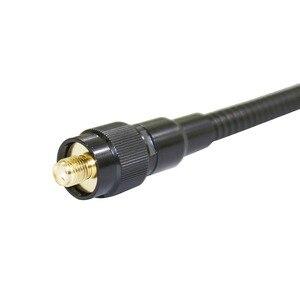 Image 4 - ABBREE AR 148 gęsia tuba sma female dwuzakresowy 144/430Mhz składana CS taktyczna antena do walkie talkie Baofeng 5R BF 888S Radio