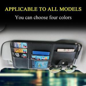 Image 4 - Universal Auto auto Sonnenblende Veranstalter Halter Lagerung Tasche TydyingCase für Karte Gläser Auto Zubehör Visier Multifunktionale Lagerung