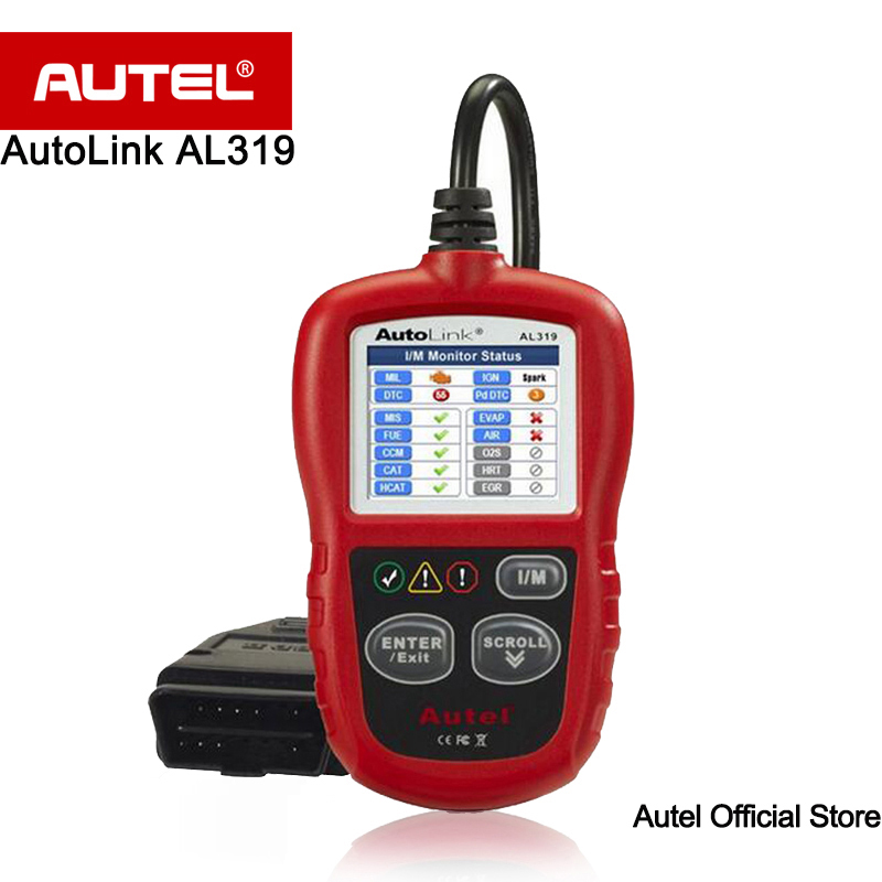 [5 pcs/lot] Autel AutoLink AL319 On-Board Diagnostics OBD2/CAN Lecteur de Code de Défaut Automatique Code Scanner affiche définitions DTC