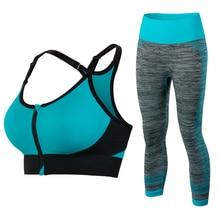 New Women Sports Clothing Yoga Sets Sport Bra Yoga Leggins Female Sport Tights Running Gym Sport Suit Fitness Clothes Yoga Sets