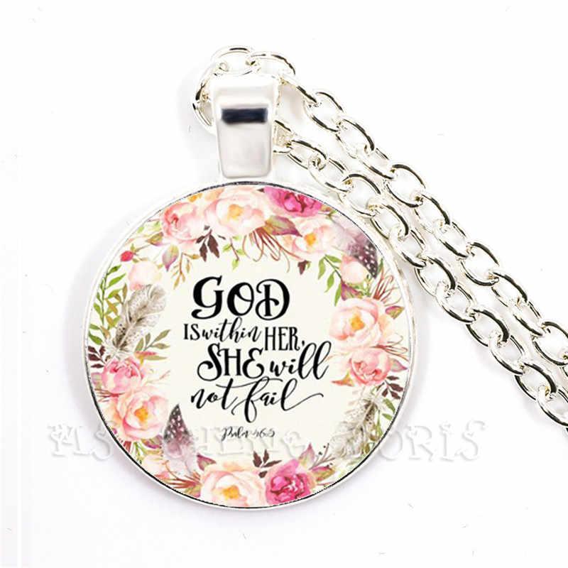 Werset biblijny szklana kopuła naszyjnik, miłość, ponieważ on pierwszy nas umiłował pismo święte cytat biżuteria dla kobiet mężczyzn wiary chrześcijańskiej prezenty