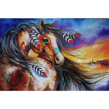 5d diy Diamond embroidery Indian horse diamond painting Cross Stitch full square drill Rhinestone mosaic home цена