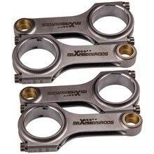 117mm 4340 Dövme Çelik H beam Bağlantı Çubukları Fiat Abarth 850 A112 Conrods Con Çubuk ARP 2000 bağlantı Çubukları Conrods