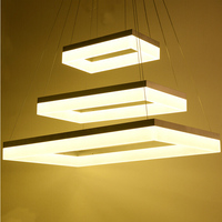 Free Shipping Modern Led Pendant Lamps Led Pendant Light Square Frames White Painting 90 265V Led