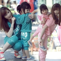 Matching Family Look Mother Daughter Mom Girl Clothing Set Girls Sports Suit Kids Casual Wear Short