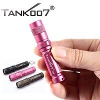 TANK007 E09 CREE 120 люмен 3 режима мини брелок колпачок со светодиодной вспышкой светильник красный светильник 1 * aaa батарея + Алюминиевая СВЕТОДИОД...