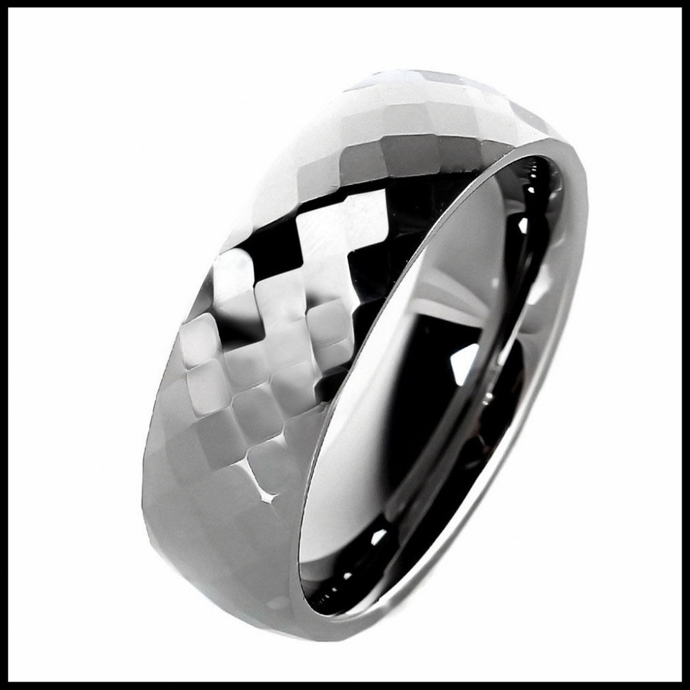 7mm Unisex Tungsten Carbide Ring High Polished Plain Mens Jewelry Gift Comfort Fit Wedding Bands Silver