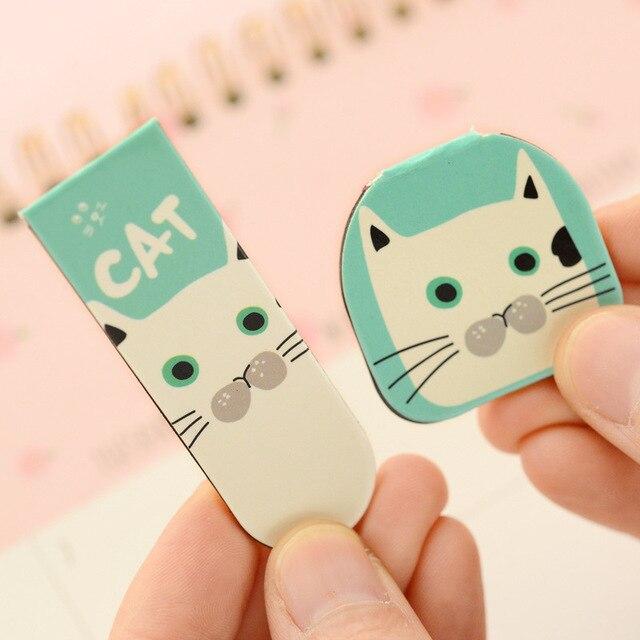 2 pcs DIY Cute cat panda Floral creative quality metal bookmark stationery mark office teachers gifts children school supplies Bookmark