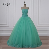 ADLN Schatz Sleeveless Ballkleid Günstige Quinceanera Kleid Vestidos de 15 Anos Tüll Korsett Süße 16 Kleider