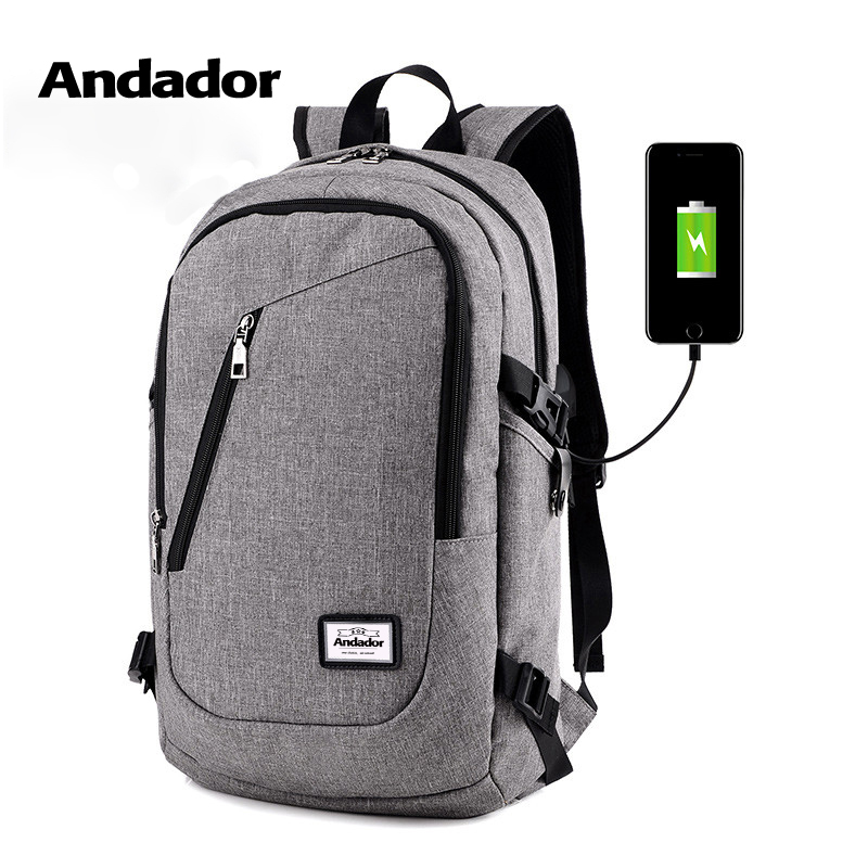Fashion man laptop backpack usb charging computer backpacks casual style bags large male business travel bag backpack-in Backpacks from Luggage & Bags
