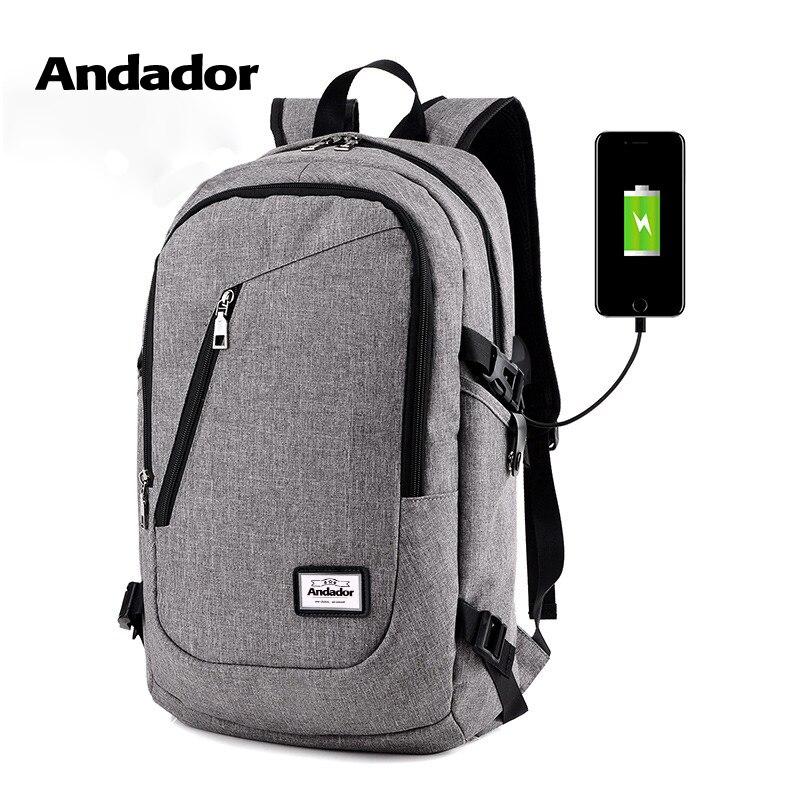 Homem moda mochila laptop mochilas de computador de carregamento usb estilo casual sacos grandes de negócio masculino bolsa de viagem mochila