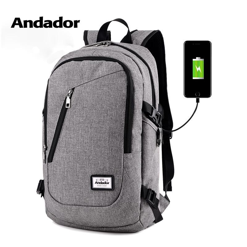 Moda de hombre mochila de carga usb de la computadora mochilas estilo casual bolsas de gran hombre de negocios mochila bolsa de viaje