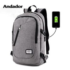 Image 1 - Mode mann laptop rucksack usb lade computer rucksäcke casual stil taschen große männliche business reisetasche rucksack