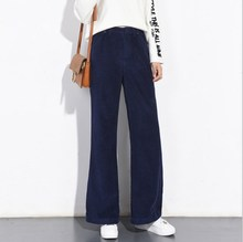 Corduroy Leg Loose Bell Bottom Flare Pants PU27
