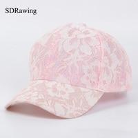 SDRawing Women S Baseball Caps Lace Sun Hats Breathable Mesh Hat Gorras Summer Cap For Women
