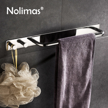3M Self Adhesive Towel Bar With Clothes Hook Hanger SUS 304 Stainless Steel Single Towel Bar Towel Holder Bathroom Accessories
