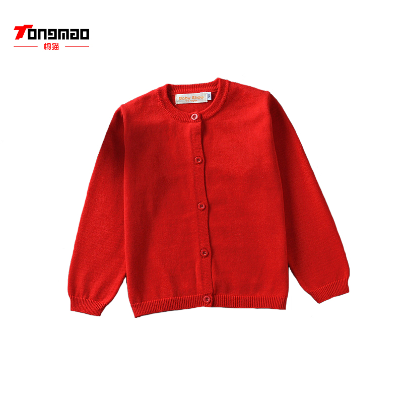 New Girl Cardigan Kids Brand Sweater Cotton Knit Long Sleeve Basic Warm Spring and Autumn School