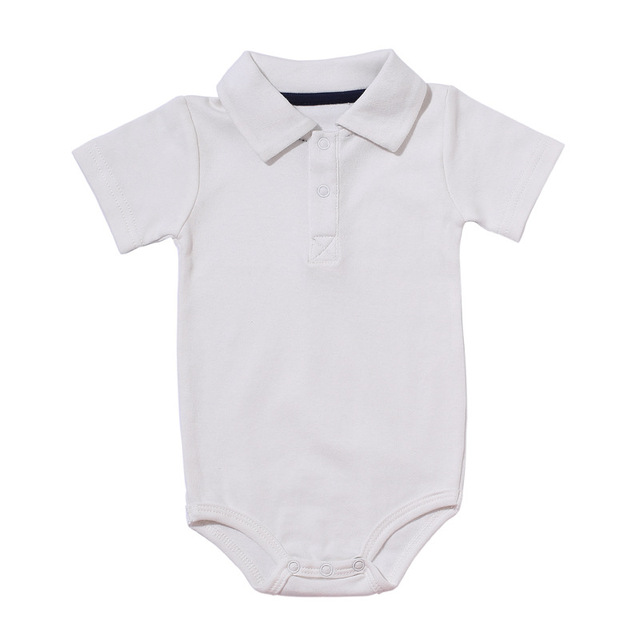 Summer Baby Boy Girl Rompers Turn-down Collar Infant Newborn Cotton Clothes Jumpsuit For 0-2Y Toddlers Bebe Outfits 4