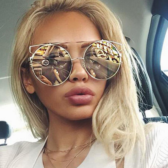 93e7a9c79 ROYAL GIRL NEWEST Women Double Wire Oversized Sun glasses Big Round  Bohemian Vintage Sunglasses ss180