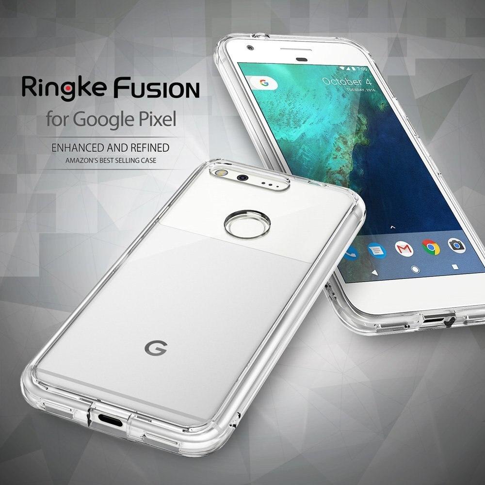 100% Original Google Pixel Case Ringke Fusion Series Crystal Back Panel + TPU Frame Dual Protection Cases for Google Pixel 2016