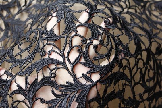 Siyah dantel kumaş, Gipür dantel kumaş, Tığ dantel kumaş, Narin - Sanat, el sanatları ve dikiş