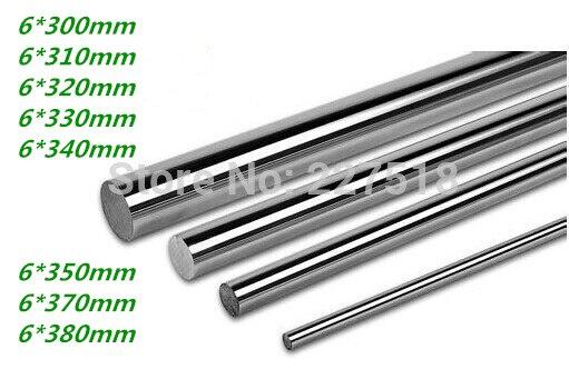 10pcs/lot linear shaft 6mm diameter 300/310/320/330/340/350/360/370/380/390mm harden linear rod round shaft 10pcs 6mm diameter titanium plating