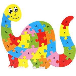 Image 5 - Jouet dintelligence, blocs de construction, lettres anglaises, puzzle animaux en bois, jouets éducatifs pour bébés, cadeaux pour enfants