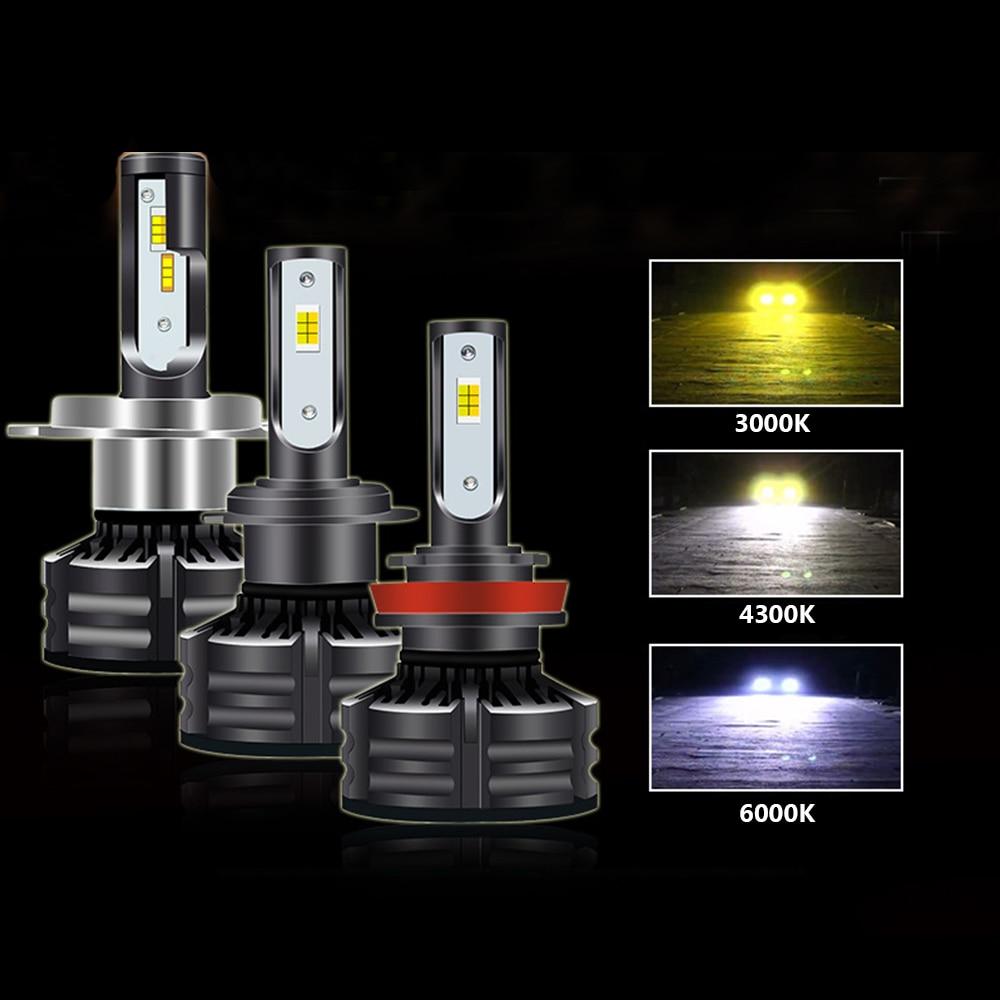 Obedient Car-styling Led Head Light Bulb 9005 H7 H1 3000k/4300k/6000k For Infiniti Q60 G37x G35 For Mercedes-benz Amg Gle Amg Slk Etc Car Headlight Bulbs(led) Fine Quality