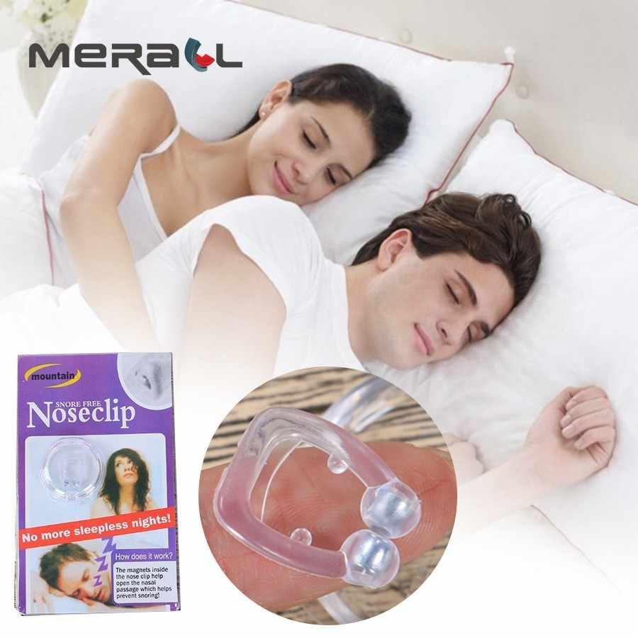 Stop Snoring Aids Silicone Magnet Nose Clip Stop Snoring Dilatador Nasal Anti Snore Solution Breathing Aids For Sleep Breathe Right Nose Strip Box