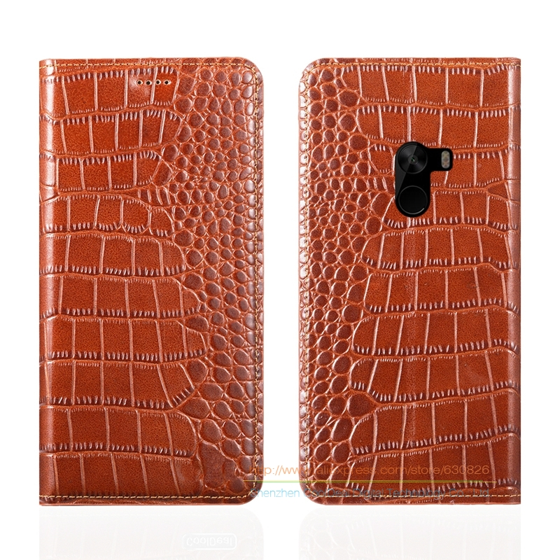 Crocodile Grain Genuine Leather Case For Xiaomi Mi Mix Mi X Xiaomi Mix 6 4 Phone