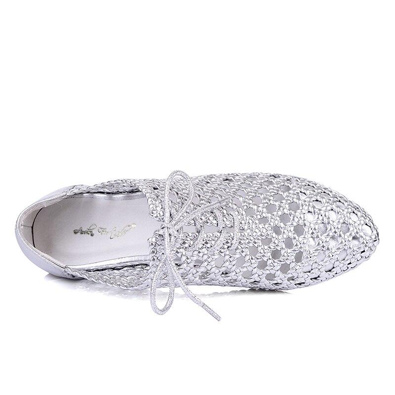 Arden Furtado 2018 moda Primavera Verano zapatos de cuero genuino mujer planos mujeres zapatos casuales mocasines señoras zapatos de oro-in Zapatos planos de mujer from zapatos    3